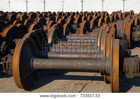 train wheel pair abstract background