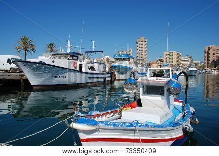 Boats in Fuengirola harbour.