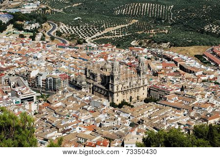 Cathedral and city view, Jaen.