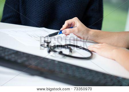 Doctor Explaining Diagnosis