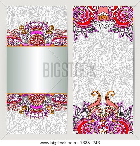 decorative label card for vintage design, ethnic pattern