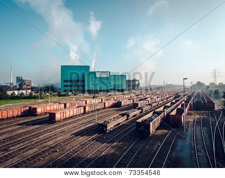 Day View Of Steel Mill