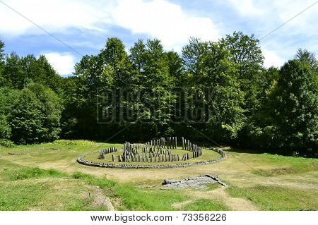 The Ruins Of Sarmizegetusa Regia, The Capital Of The Dacian Kingdom