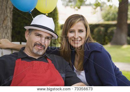 Portrait of Hispanic couple