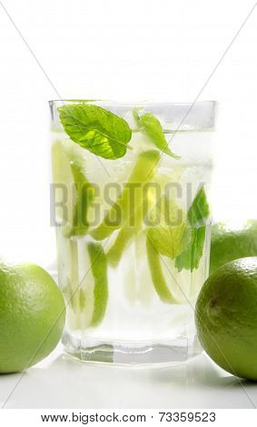 Mojito Rum Cocktail With Lime