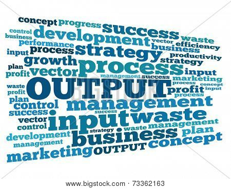 Output concept in word collage