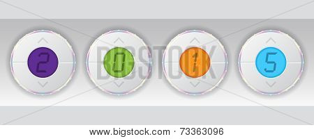 2015 Background With Technology Gauges