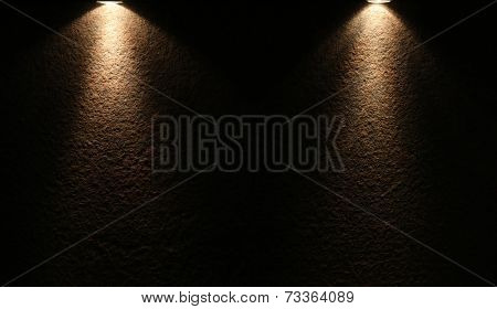 dark spotlight with space for your text or picture.