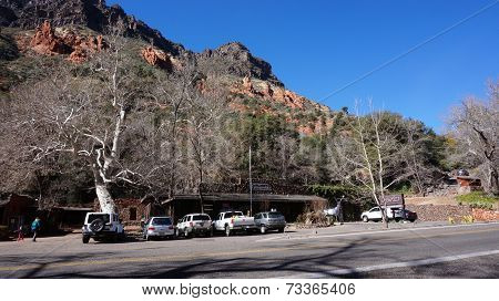 Indian Gardens is a historic establishment in lower Oak Creek Canyon