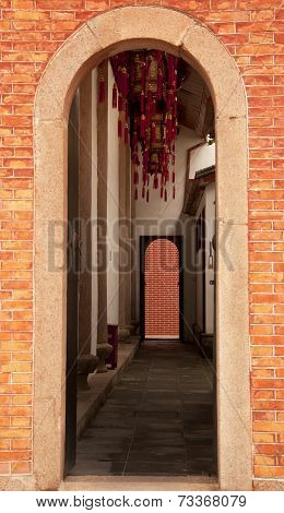 Red Brick Doorway