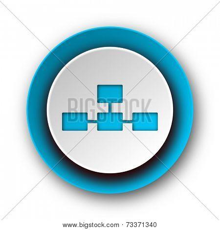 database blue modern web icon on white background