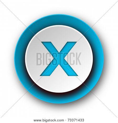 cancel blue modern web icon on white background