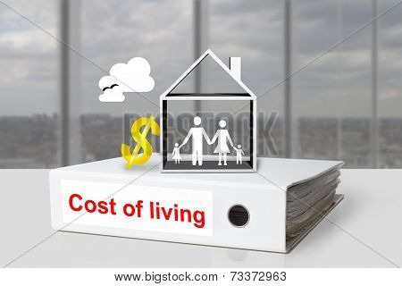 Office Binder Cost Of Living Family