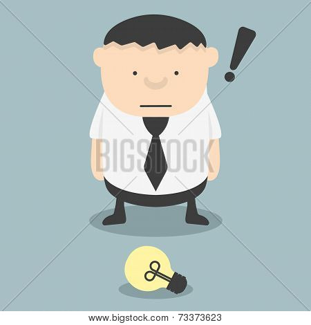 Fat Businessmen See Ideas Fortuitous