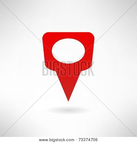 Map marker icon made in flat design. Vector