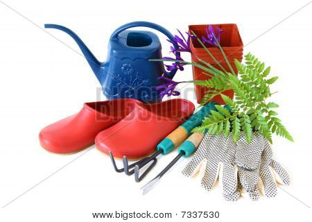 Garden Tools And Clogs