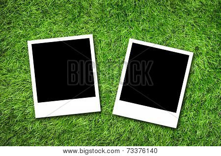 Photo Frame On Grass