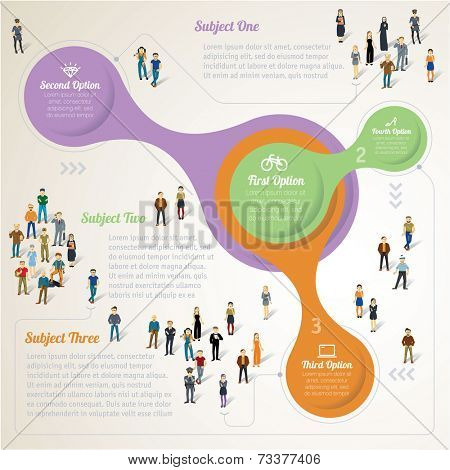 Human infographics.Retro vector template.