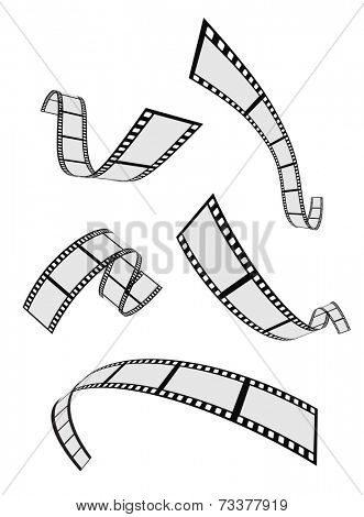 film strip roll 3d set design