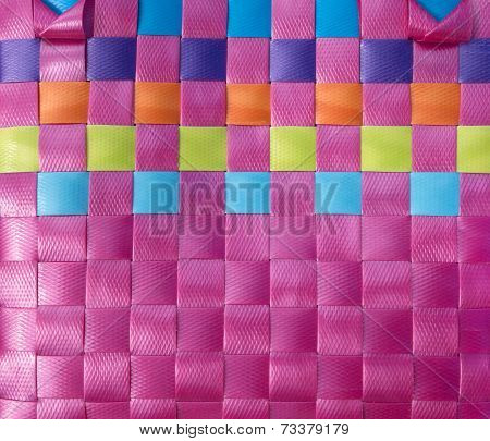 Braided plastic plattern