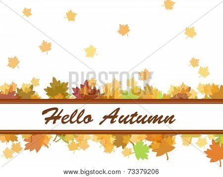 Hello Autumn background