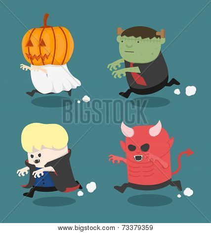 Illustration Of Halloween Monster