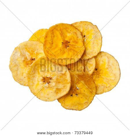 Platano Plantain Chips On White Background