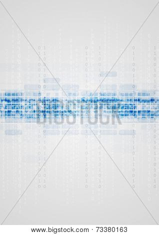 Blue technical elements on grey background. Vector design
