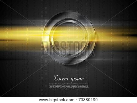 Abstract tech shiny glow background. Vector design