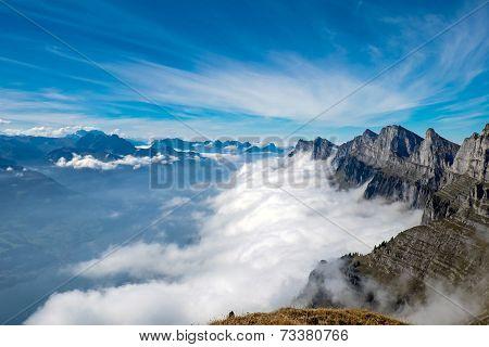 Alpine landscape in Switzerland