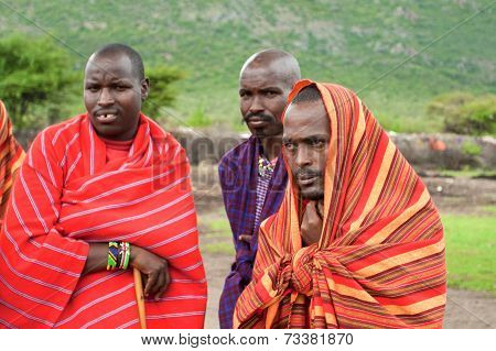 Three Unidentified African Men