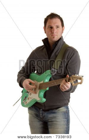 Rockerboy with e guitar