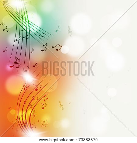 Muisc Notes Multicolor Bright Background