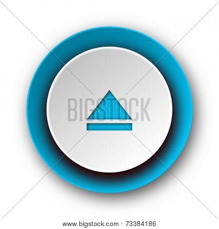 eject blue modern web icon on white background