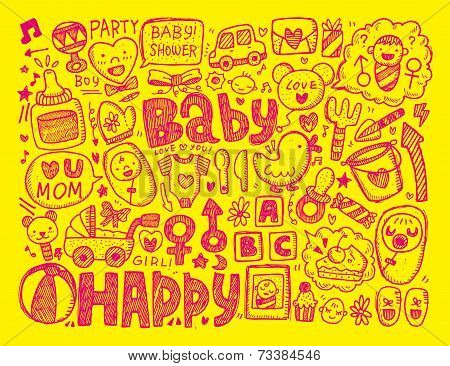 Doodle Baby Background