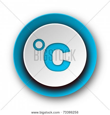 celsius blue modern web icon on white background