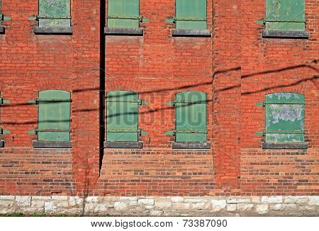 Side Of Old Brick Building