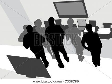 People on office
