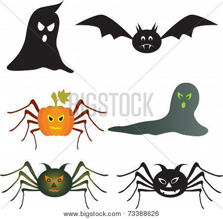 Spooky Hallowen Vectors