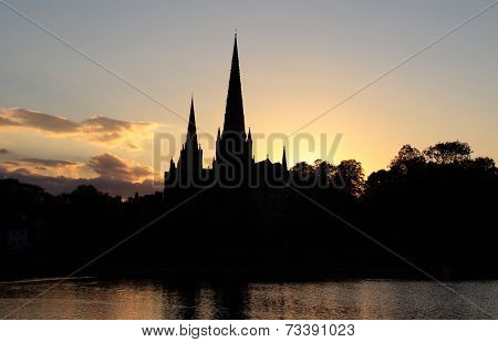 Lichfield Cathedral Silhouette