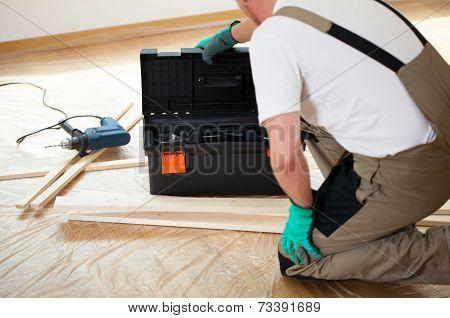 Handyman During House Renovation