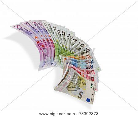Euros banknotes