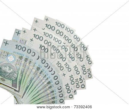 100 PLN Notes - Polish banknotes