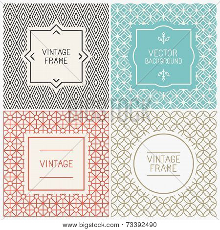 Vector Mono Line Graphic Design Templates
