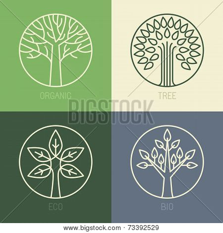 Tree Vector Organic Badges
