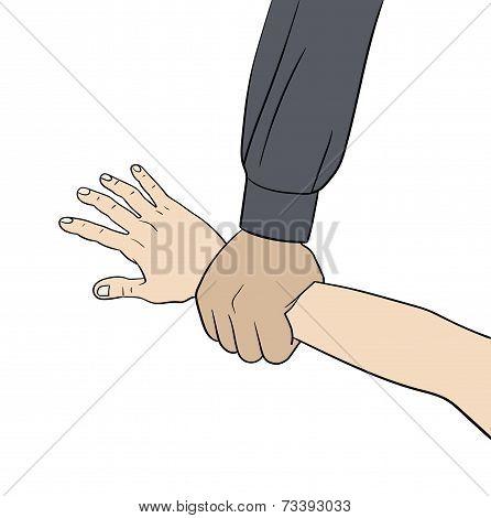 grab hand elemment