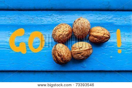 Go nuts! Motivational message