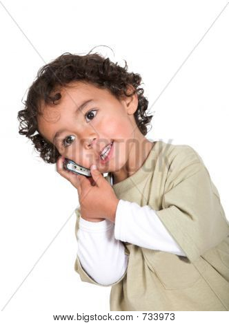 Little Boy On A Cellphone