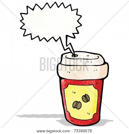 screaming hot coffee cartoon