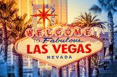 stock photo of las vegas casino  - Las Vegas Welcomes You - JPG
